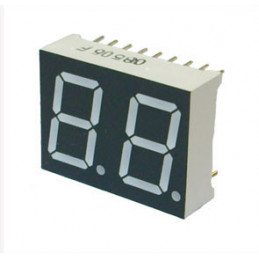 14.22mm 2 Digit Numeric LED Display 7Seg Red Common Anode
