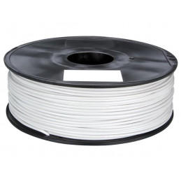 """1.75 mm (1/16"""") ABS FILAMENT - WHITE - 1 kg"""