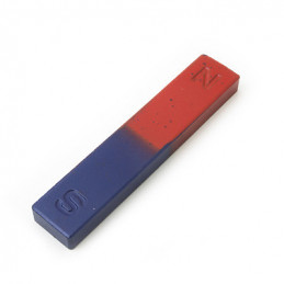 Bar Magnet North South Blue Red 112x22x10mm