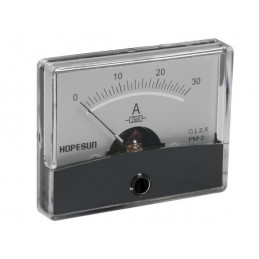 Panel Meter - Ammeter 30A DC with shunt
