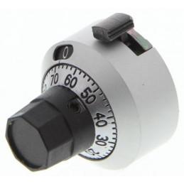 Bourns Potentiometer Dial, Body: Chrome, Dia. 22.2mm, 6.35mm Sha