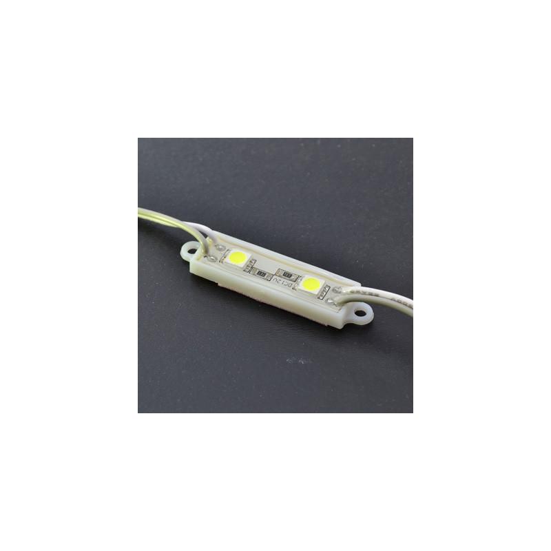 LED Module 2 x 5050 Chip LEDS Plastic - Yellow 12V