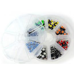 160pcs/set 6*6*5mm 8 Colours 4PIN SMT Tactile Tact Push Button