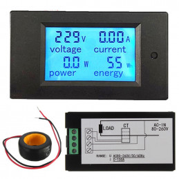 AC power meter Voltage Current Power Energy Panel Meter
