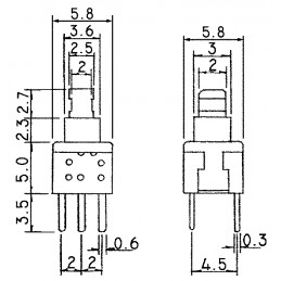 B17001B Tactile Miniature Push Button Switch NO