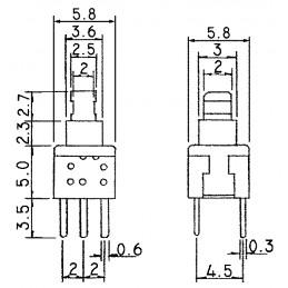 B17001A Tactile Miniature Push Button Switch Latch
