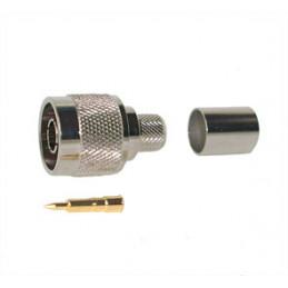 NMALE CRIMP Plug RG213