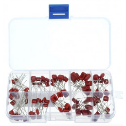 Metallized Polyester Film Capacitors Assortment Kit 100pcs