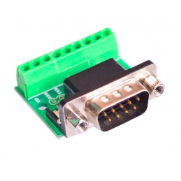 DB9 RS232 Serial to Terminal Male Adapter Connector
