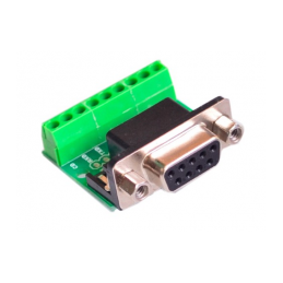 DB9 RS232 Serial to Terminal Female Adapter Connector
