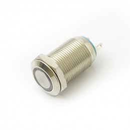 Mini metal push Button latching with blue light 12v