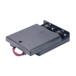 Battery Holder 4xAA Flat enclosed with wire