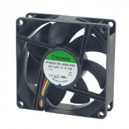 Fan 80x80x25 12VDC 4 Wire
