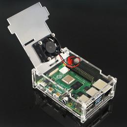 Acrylic Case + Fan for Raspberry Pi 4