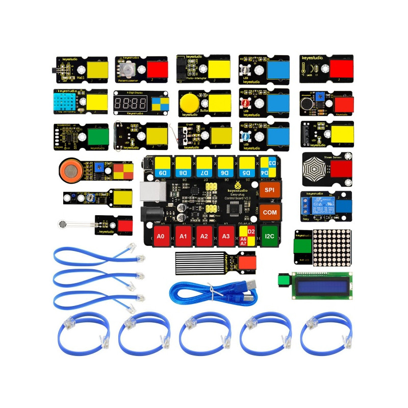 KEYESTUDIO EASY PLUG Super Starter Kit For Arduino STEM EDU