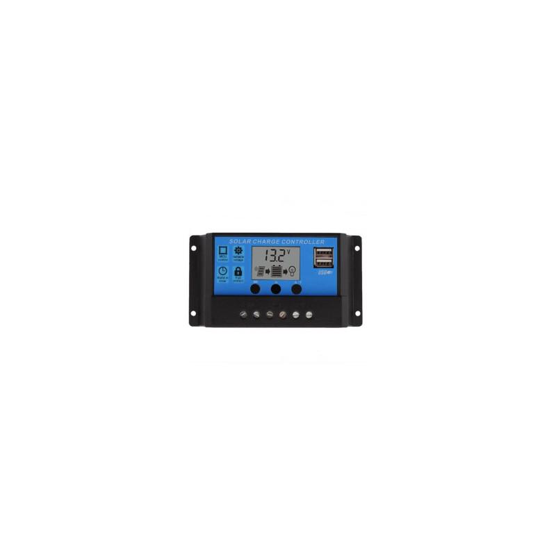PWM 10A Dual USB Solar Panel Battery Regulator Charge