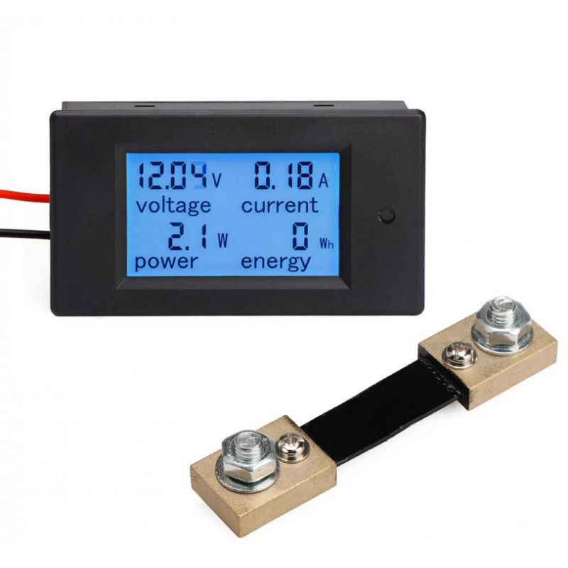 100A DC Digital Multifunction Power Meter Energy Monitor Module
