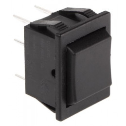 Rocker Switch 2P DPDT (On)-Off-(On) black