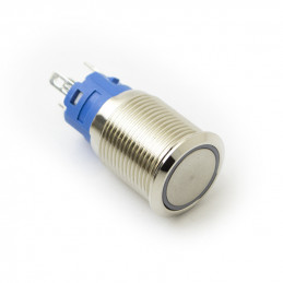 Metal push Button latching with blue light 12v