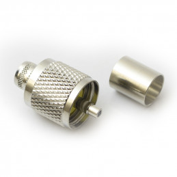 PL259 crimp plug for rg213