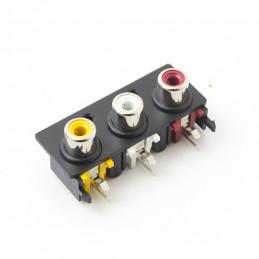 RCA Socket Plate 3way Mono R/A