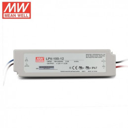 Waterproof 100W 12V 8.5A IP67 Rated LED Power Supply