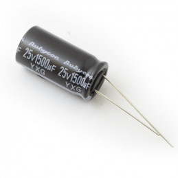 RADIAL ELEC. 1500uf 25V 105D