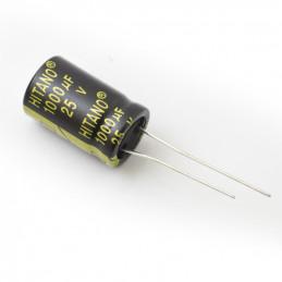 RADIAL ELEC. 1000uf 25V 105D