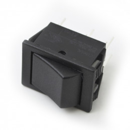 Rocker Switch 6P DPDT on - (on) black 16A 250V