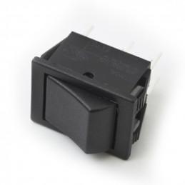 Rocker Switch 6P DPDT on - (on) black 16A 250V