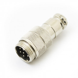 6P Mic Connector plug inline