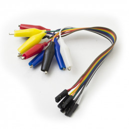 Jumper wire female to alligator clip cable