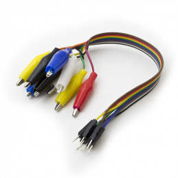 jumper wire male to alligator clip cable