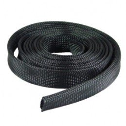 Black 5mm Expandable braided cable sleeve 5m