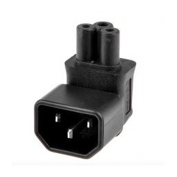 IEC320-C14 Male to C5 Female clover 90-Degree Angle Power