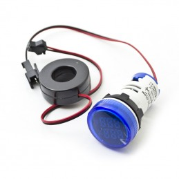 Blue 22mm LCD 220V Digital AC Voltmeter + Ammeter 100A