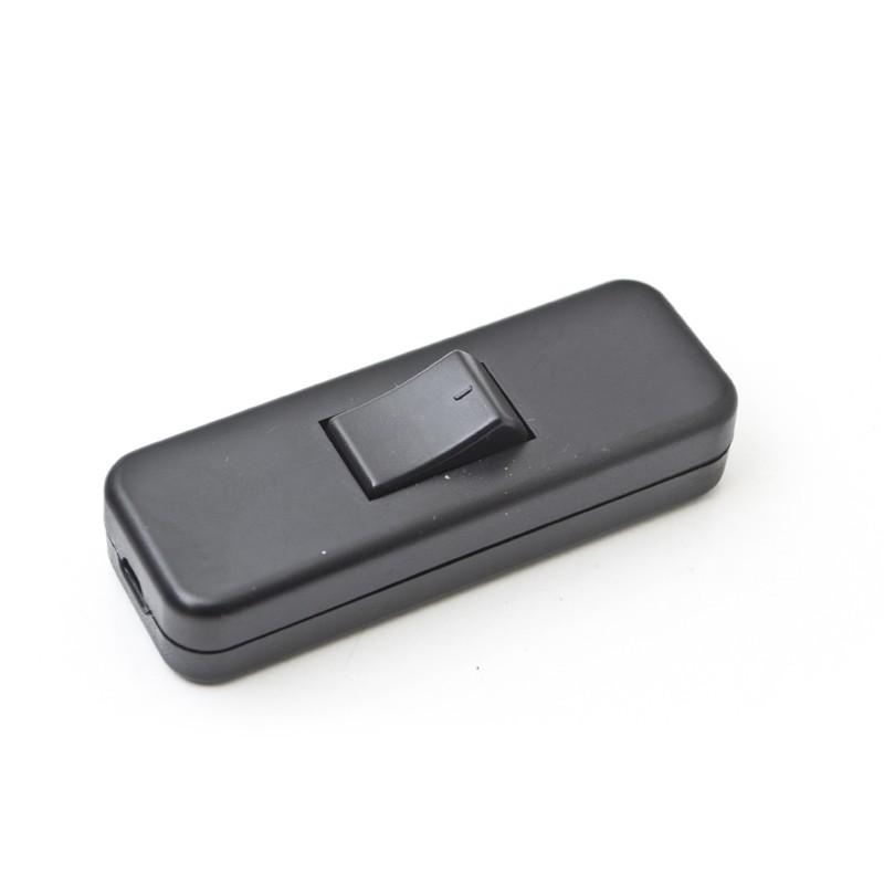 Push Button Switch Inline Rocker Switch Black 2A 250V