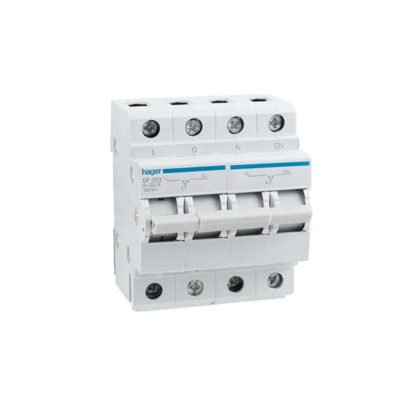 Hager DIN Rail Changeover Switch 63A SF263