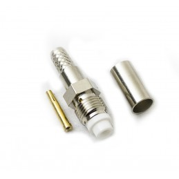 FME female crimp type Connector gold-pin RG58