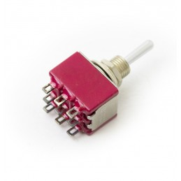 Mini toggle switch 3PDT ON-OFF-(ON)